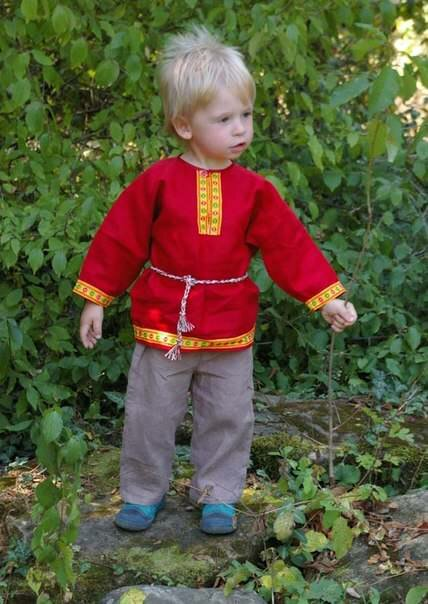 Русский народный костюм для мальчика сшить своими руками