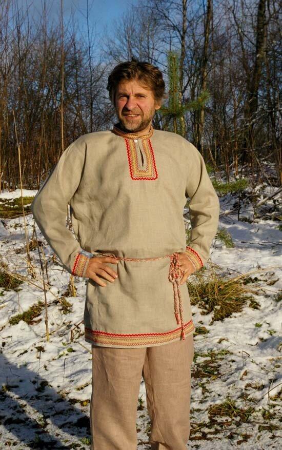 Мужская славянская рубаха